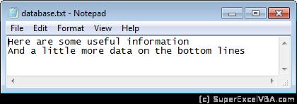 Database TXT