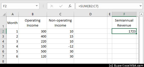 VBA Example Formula