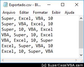 Exemplo CSV